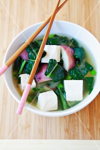 Bowl of Japanese soup