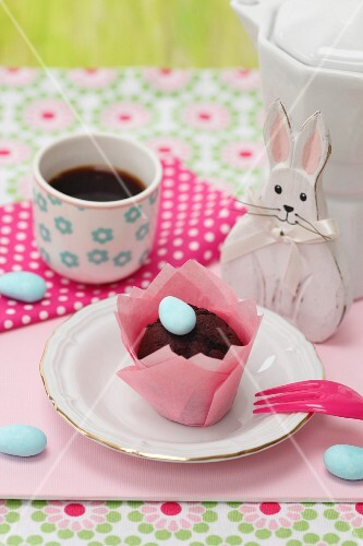 Chocolate muffin for Easter