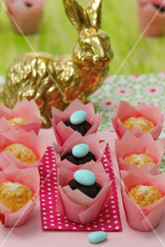 Coconut and chocolate muffins for Easter