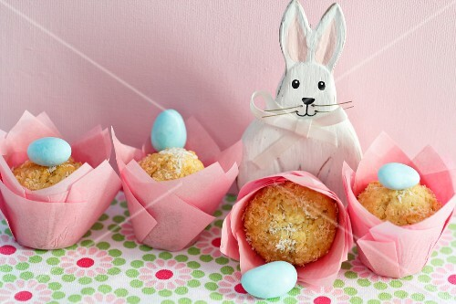 Coconut muffins for Easter