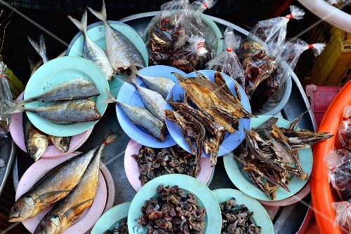Assorted fish from Thailand at the market