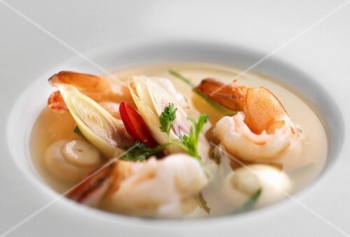 Prawn soup from Thailand