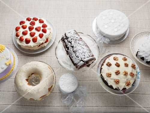 Assorted gluten-free cakes