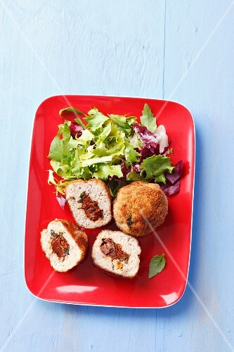Pork meatballs with sundried tomatoes