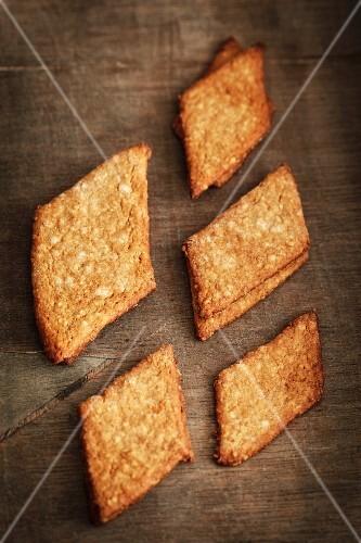 Home-made Braunkuchen (spiced German biscuits)