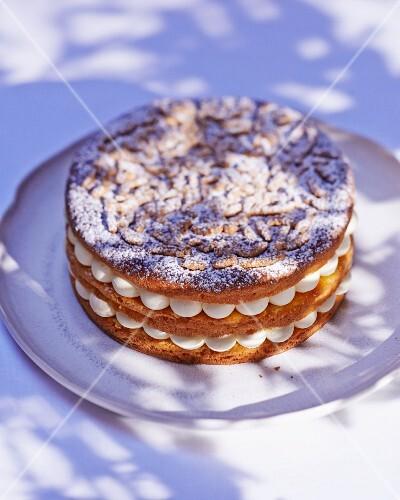 Gateau tropezienne with vanilla cream (France)