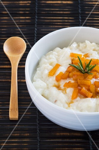 Rice pudding with apricot confit