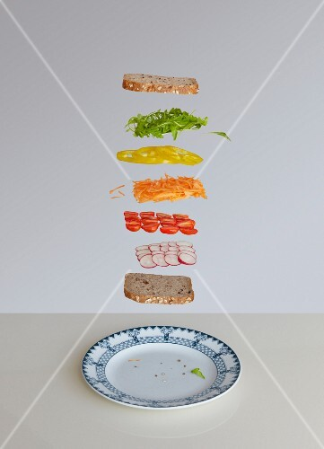 Salad sandwich deconstructed