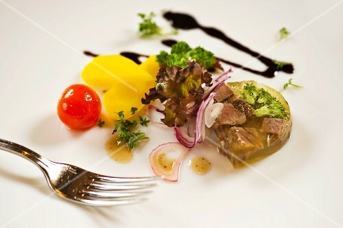 Beef in aspic with vegetables (Austria)