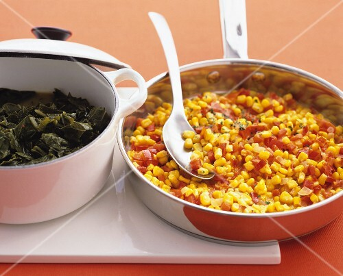 Spicy corn and pepper stir-fry