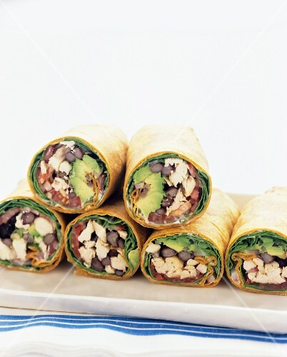 Chicken wraps with avocado (Mexico)