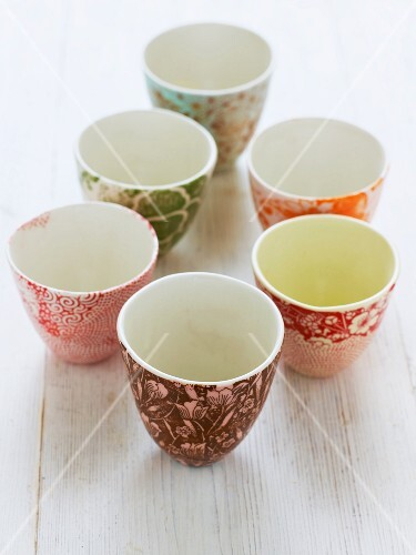Several handmade small bowls