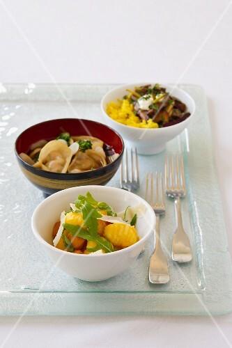 Three Italian dishes