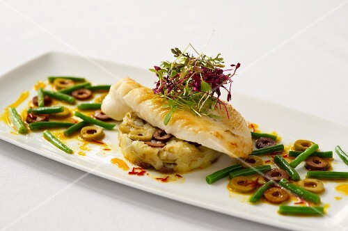 Flash fried John Dory with green beans and olives