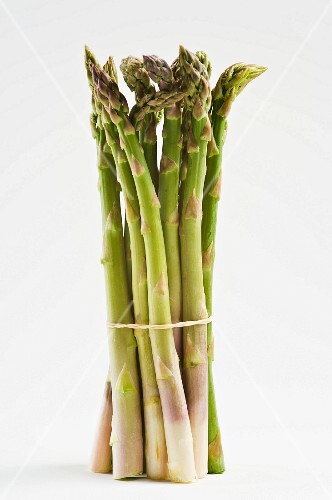A bunch of green, B grade asparagus