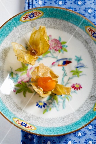 Physalis on a plate
