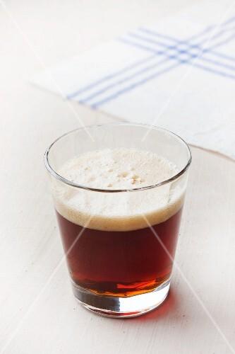 A glass of kali (Estonian soft drink)