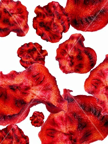 Beetroot chips (seen from above)