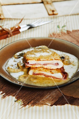 Chicken Cordon Bleu with ham and cheese