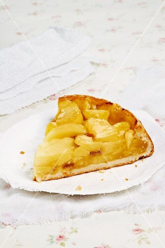 A piece of apple cake