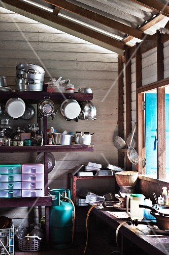 A traditional Thai kitchen