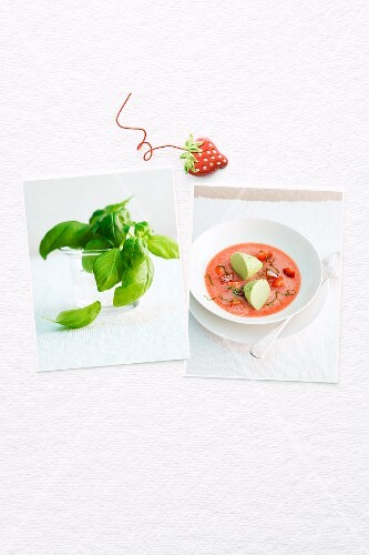 Goes well together: strawberries and basil