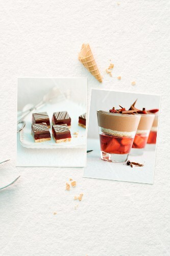Goes well together: strawberries and chocolate
