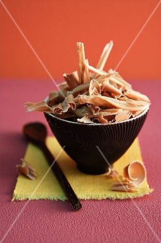 A bowl of grated chocolate
