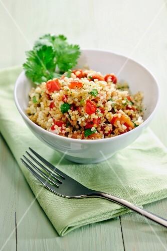 Tablouleh (bulgur salad with tomatoes, mint and parsley, Lebanon)