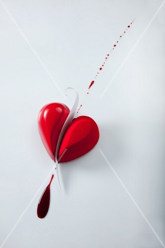 A heart-shaped praline