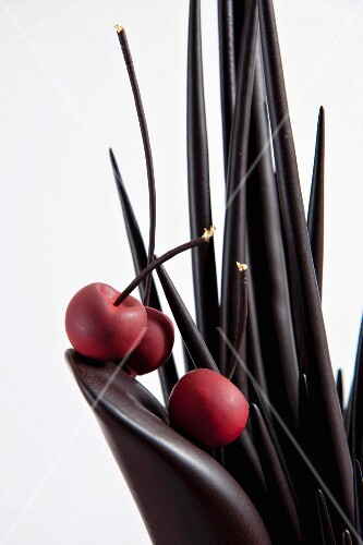 Chocolate spikes and cherries