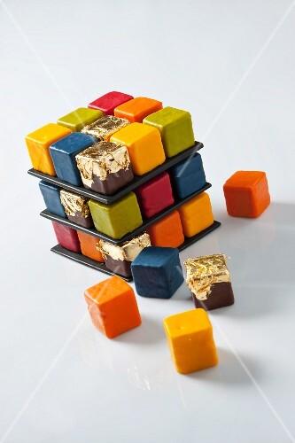 A Rubix Cube cake