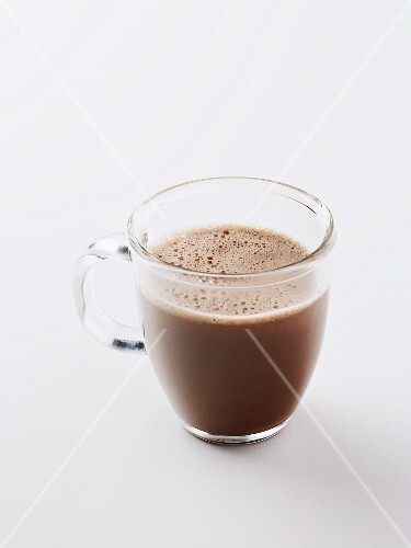 Cocoa in glass cup