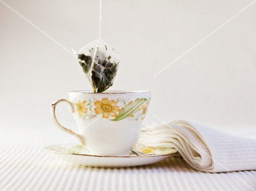 Cup of Peppermint Tea with Tea Bag