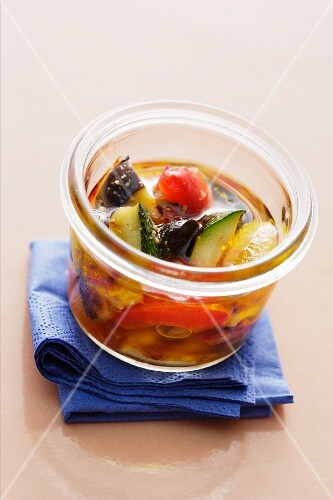 Ratatouille with olives