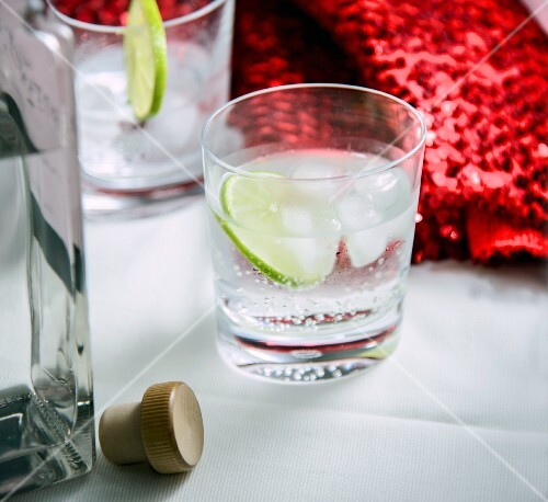 Gin and tonic cocktail made with Gin & Titonic products
