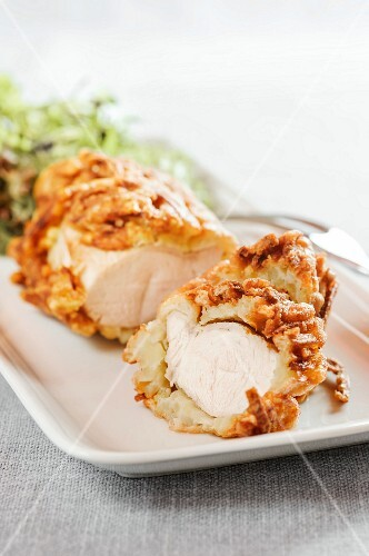 Turkey in a potato and bacon coating