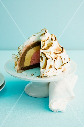 Baked Alaska with Slice Removed
