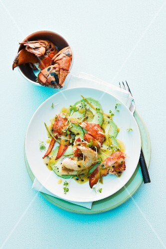 Grilled lobster with passion fruit and rum butter