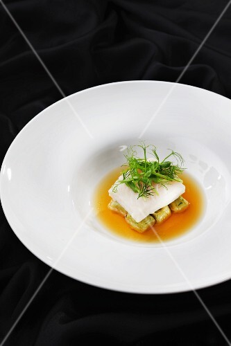 Fish soup with gnocchi