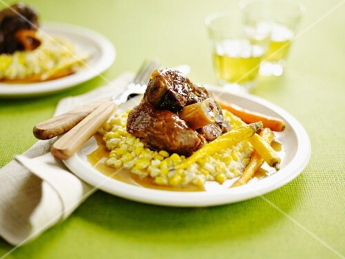 Cider-braised pork