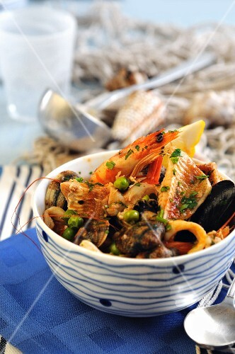 Seafood soup with tomatoes (Italy)