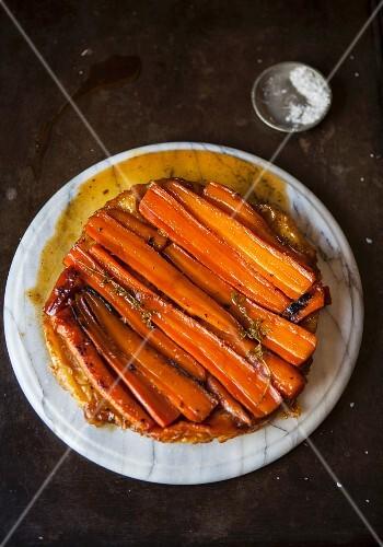 Caramelised carrot tart