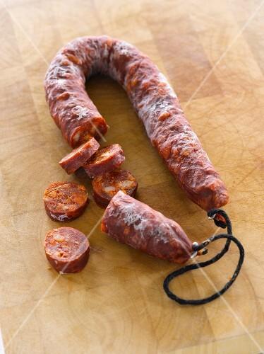 Chorizo, sliced