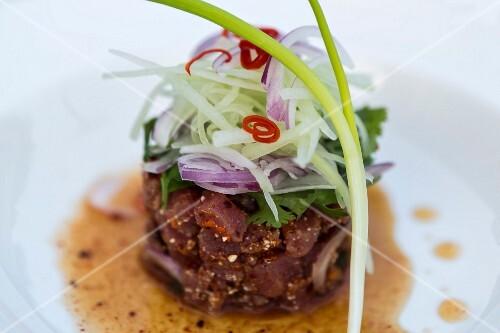 Thai tuna fish tartar