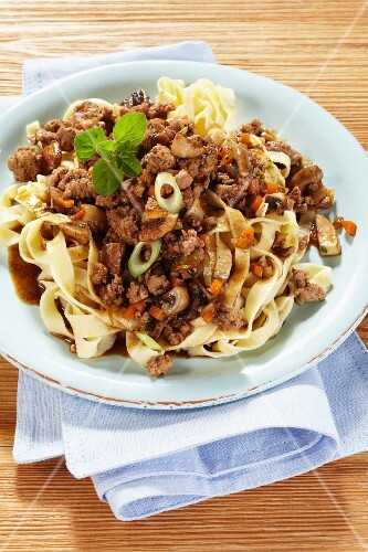 Tagliatelle with a minced game sauce