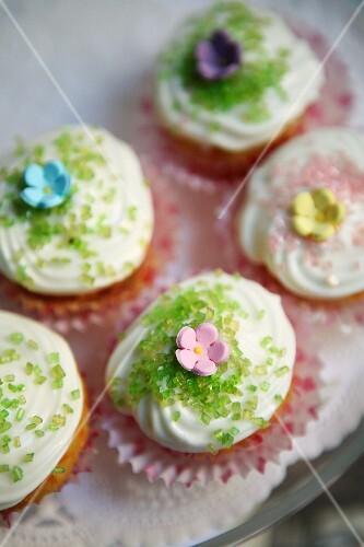 Frühlings-Cup Cakes
