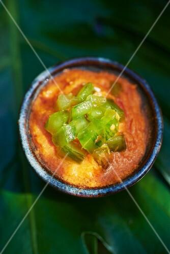Tomato sauce with chillis