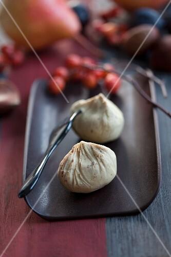 Potato and chestnut purée
