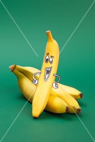 A banana with a face